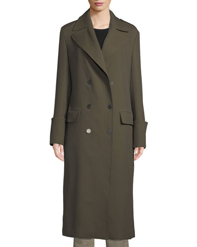 Lisbon Double-Breasted Wool-Blend Coat
