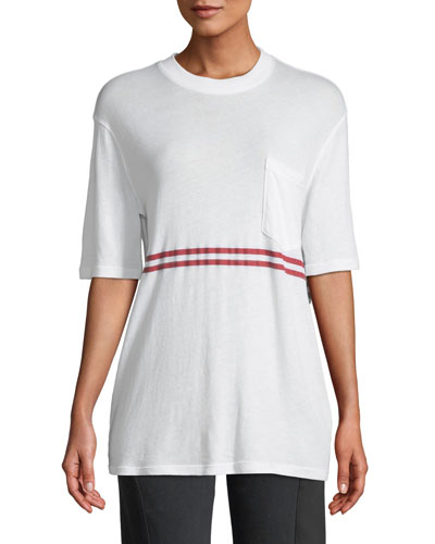 Dean Striped Boyfriend Tee