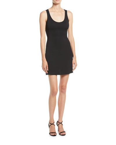 Moss Scoop-Neck Body-Con Mini Dress