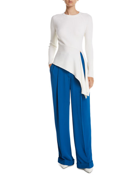 Baggy Tailored Crepe Pants