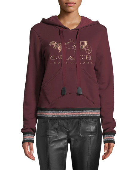 Rexy And Carriage Graphic Pullover Hoodie, Red