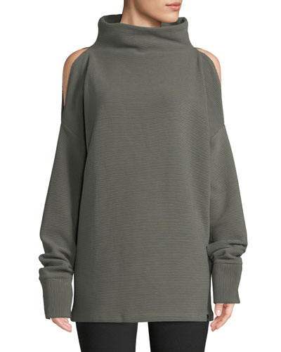 Hampton Cold-Shoulder Cotton Sweatshirt
