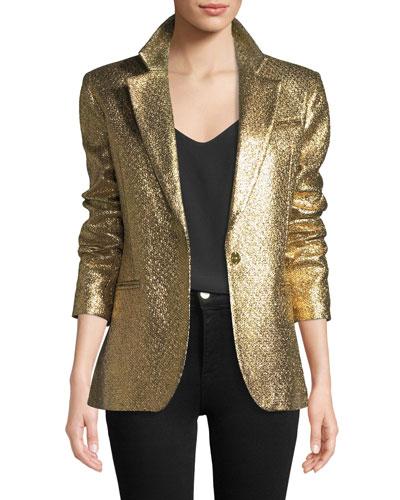 Eva Metallic Blazer Jacket