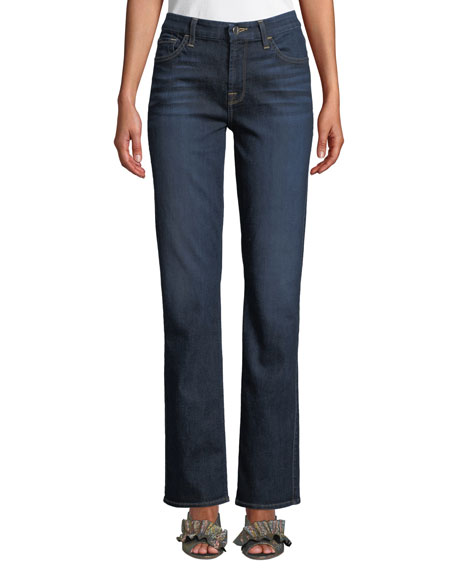 JEN7 Stretch Slim Straight Leg Jeans in Pretty Dark Hudson