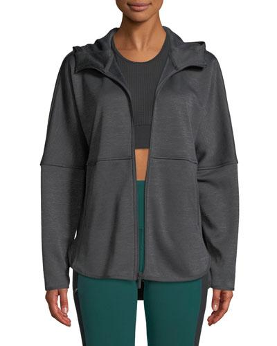 Cozy Slacker Full-Zip Hooded Jacket
