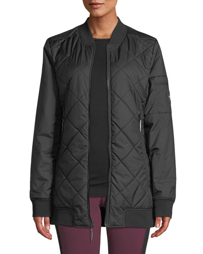 Jester Reversible Quilted Zip-Front Bomber Jacket