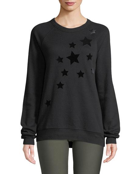 ULTRACOR Velvet Star Crewneck Sweatshirt in Nero Nero