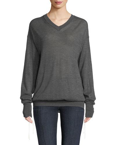 Fine Cashmere V-Neck Sweater