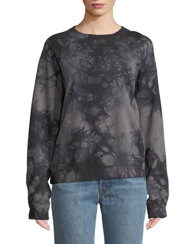 Tie-Dye Logo Pullover Sweatshirt