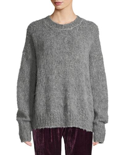 Brushed Wool-Blend Crewneck Sweater