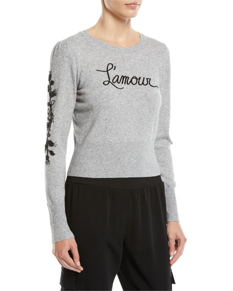 Kian Embellished Graphic Pullover Sweater