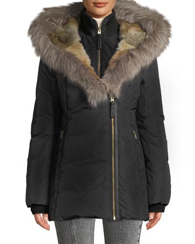Akiva Waterproof Down Coat w/ Fur Hood