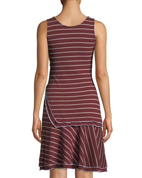 Layered Scoop-Neck Tank Dress