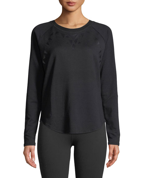 Beyond Yoga Calico Scoop-Neck Long-Sleeve Pullover Sweater