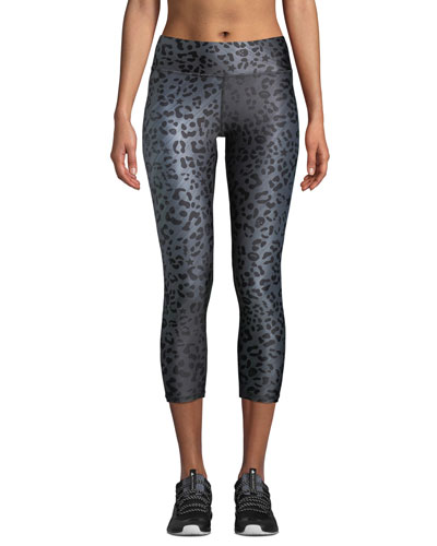 Animal-Print Tall Band Capri-Length Leggings