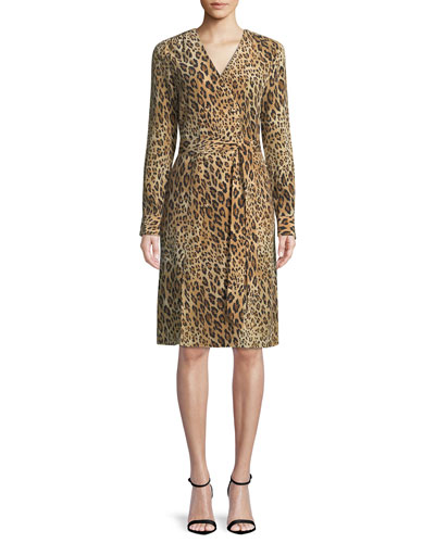 Sgt. Pepper Leopard-Print Silk Dress