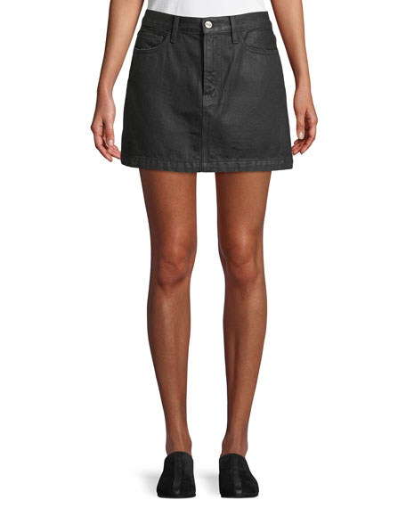 FRAME Le Mini Denim A-Line Skirt