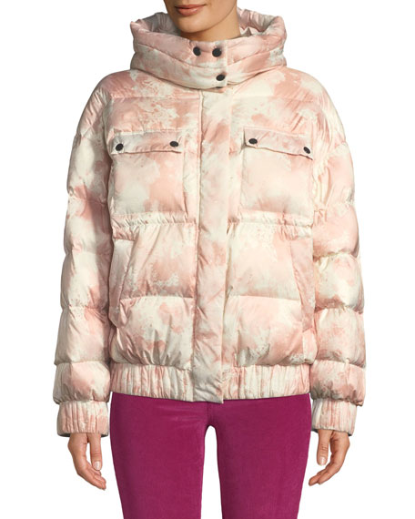 ATM Anthony Thomas Melillo Tie-Dye Hooded Down Puffer
