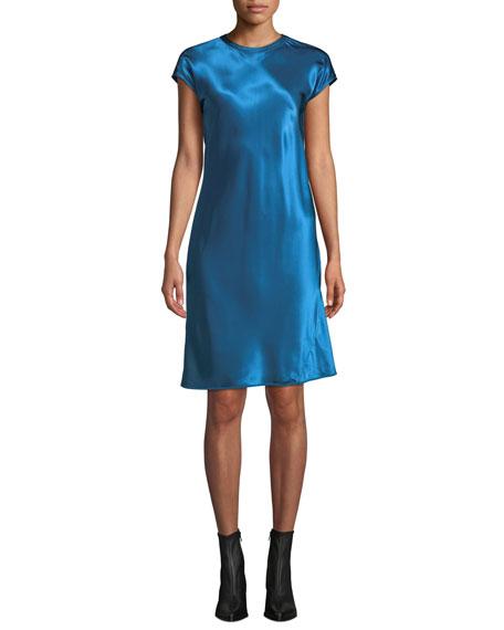 Helmut Lang Cap-Sleeve Viscose Short Dress