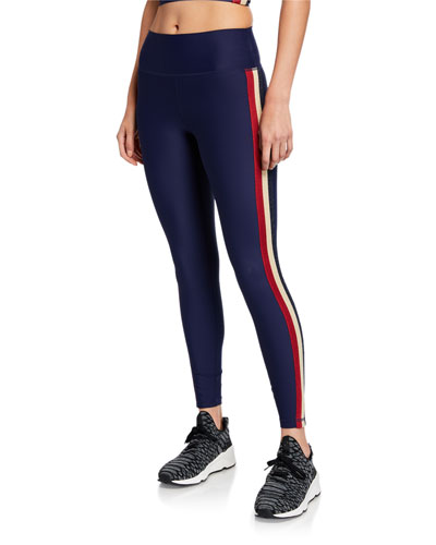 Shimmer Stripe 7/8 High-Waist Leggings