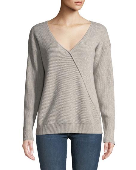 J Brand Loran Reversible Cashmere Pullover Sweater