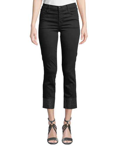 Ruby Cropped High-Rise Cigarette Jeans