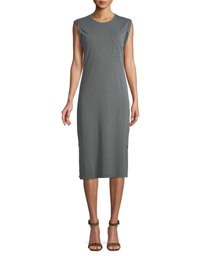 Relaxed Midi-Length Tee Dress