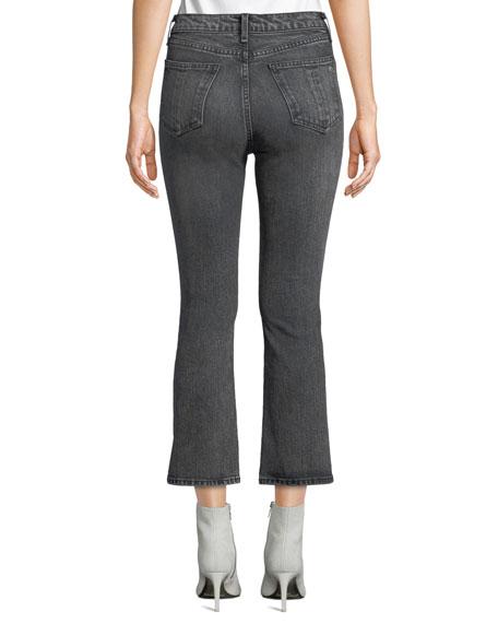 Hana High-Rise Cropped Boot-Cut Jeans