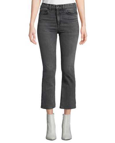 Hana High-Rise Cropped Boot-Cut Jeans