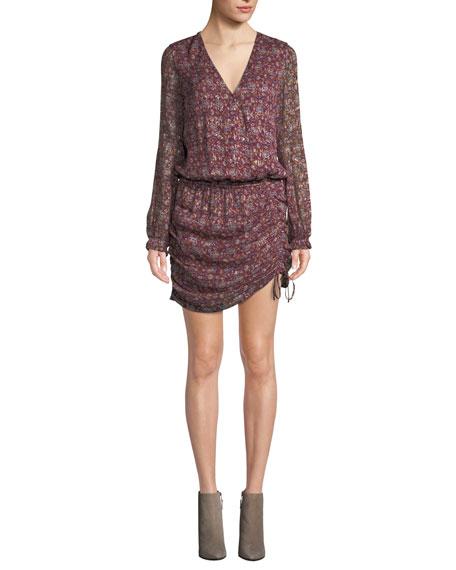 Ramy Brook Vina Printed Ruched Mini Dress