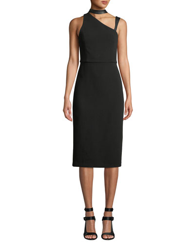 Jona Mock-Neck Cutout Dress