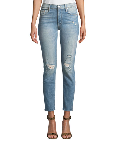 The Stinger Flood Distressed Ankle Skinny Jeans, High As The Heavens