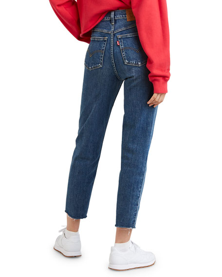 High-Waist Straight-Leg Cropped Mom Jeans
