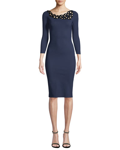 Rasvita Geometric Body-Con Dress