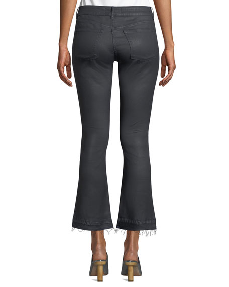 Lara Mid-Rise Instasculpt Coated Boot-Cut Jeans