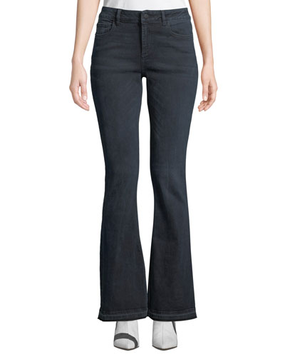 Bridget Instasculpt Mid-Rise Boot-Cut Jeans with Released Hem
