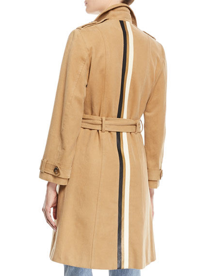 Belted Stripe Trench Coat