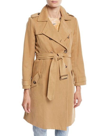 Image 1 of 1: Belted Stripe Trench Coat