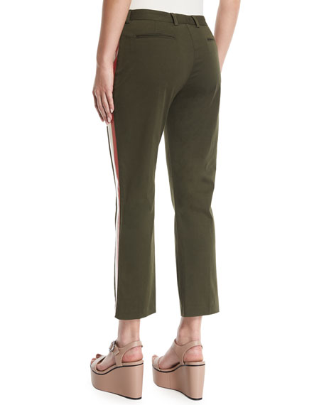 Honore Cropped Pants with Side-Stripes
