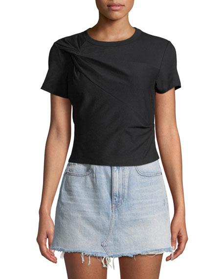 alexanderwang.t Twisted Jersey Short-Sleeve Slim Tee
