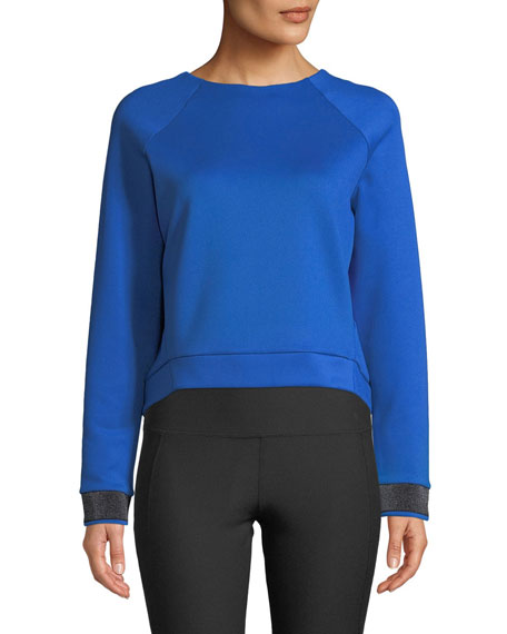 Zadie Open-Back Cropped Pullover Top