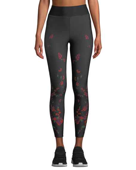 Ultracor MADRID HIGH-RISE FLORAL-PRINT PERFORMANCE LEGGINGS