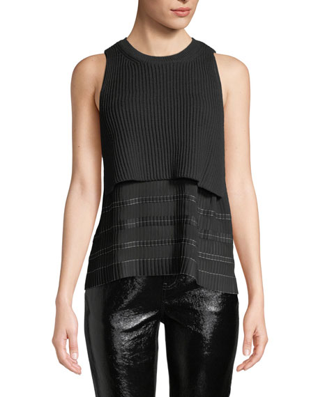 Derek Lam 10 Crosby Cropped Knit Top with