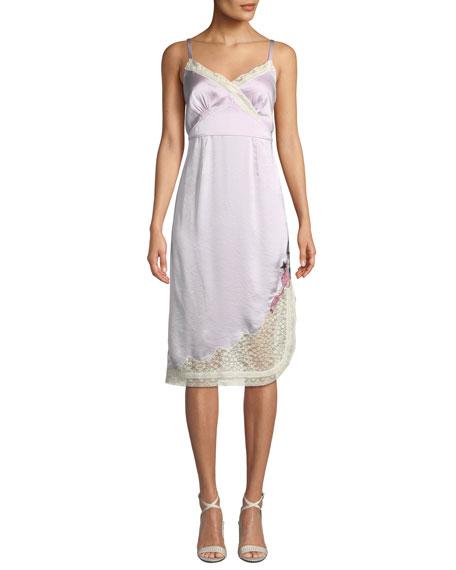 Coach x Selena Slip Dress with Lace Trim