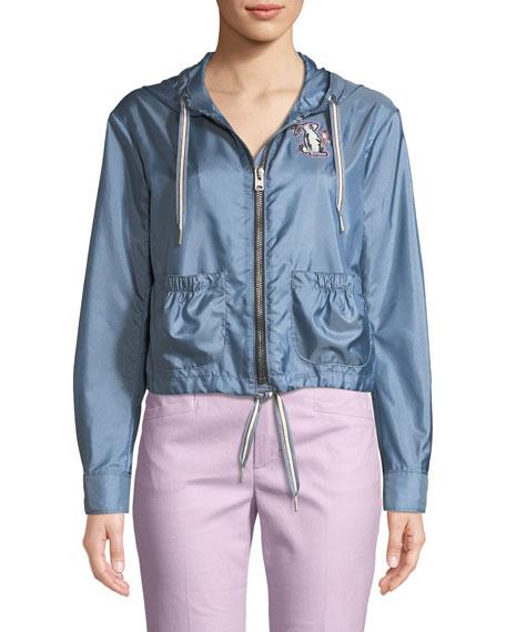 x Selena Gomez Embroidered Wind-Resistant Jacket