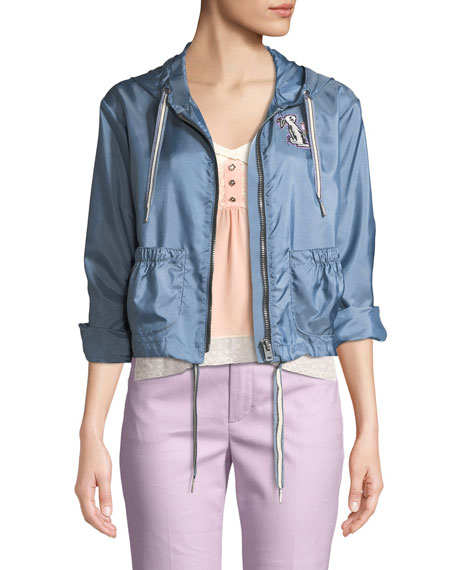 Coach x Selena Gomez Embroidered Wind-Resistant Jacket