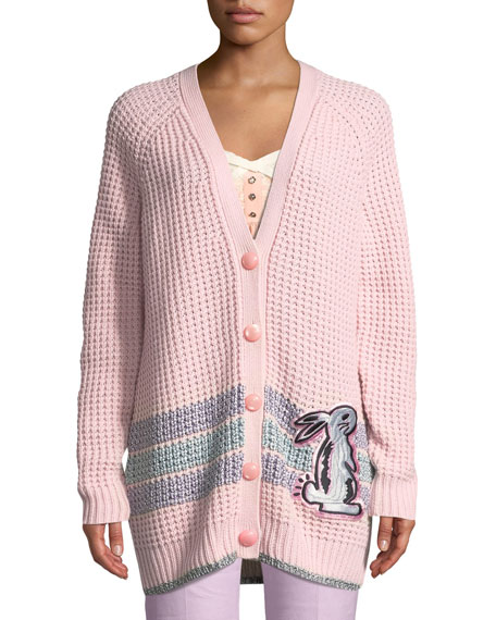 6d7342321e x Selena Gomez Embroidered Wool-Blend Cardigan