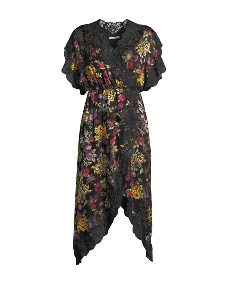 Adele Clean-Waist Wrap Dress