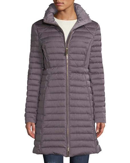 4ec09e4a2 Refined Long Puffer Coat w/ Faux Fur Hood