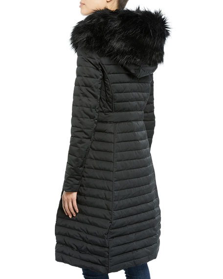 6fdabc5a914e0 Hunter Boot Refined Puffer Coat w/ Faux Fur Hood